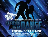 Poster Fièvre de la Danse. Client: CPA LaPlaine.