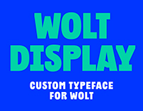 Wolt Display custom typeface