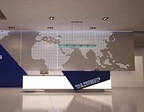 Company Reception Counter Design