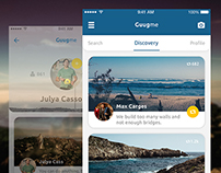 Mobile UI/UX Design / Social Journey App