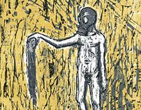 2º Prêmio Ibema Gravura: Homem com Polvo