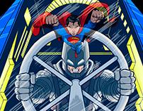 Batman V Superman Animated trailer and Illustration