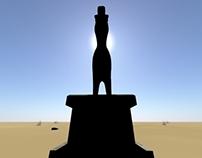 Llama Meets Statue
