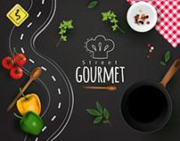 Criação de logotipo e artes projeto Street Gourmet