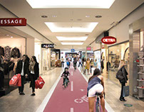 New bicycle connections for shopping mall