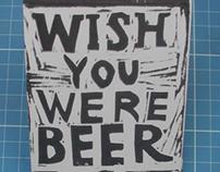 wish you were beer - handmade book