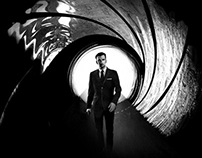 Photoshop Tutorial: James Bond Movie Poster