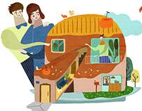 插畫|居富開發建案廣告
