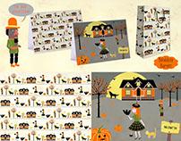 Hallowe'en print pattern