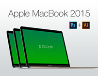 MacBook 2015 Free Vector PSD Mockup (Psd+Ai)