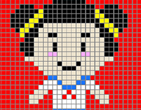 Gamer Girl Pixel Animation
