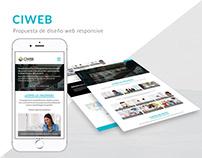 Propuesta Web Ciweb, UI, UX