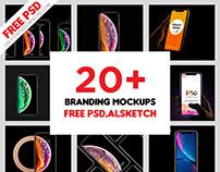 20+ iPhone Xr/Xs/Xs Max Mockup Free Psd, Sketch, Ai