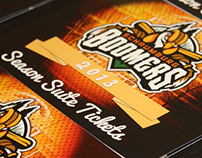 Schaumburg Boomers 2013 Suite Ticket Book