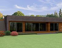 Одноэтажный дом с плоской крышей, 274 м²