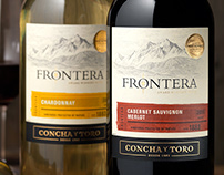 Frontera (Concha y Toro) Wine Packaging & Logo Design