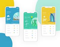 Minimal Weather UI/UX - Weather It App