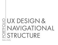 Mini-Portfolio for UX Design & Navigational Structure