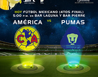 Mexican Football (quarter finals) Ads for The Fairmont