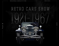 RETRO CARS SHOW WEBSITE CONCEPT