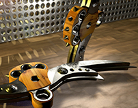 Nuckle braced blades