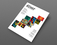 "Redesign of the danish art magazine ""Kunst."""
