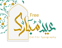 "Eid Fitr Typograpgy "" Free "" 2019"