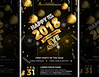 New Year EVE Party Flyer Free PSD