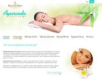 Ayurveda massage web