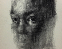 [90] untitled charcoal  on canvas 162 x 96 cm 2013