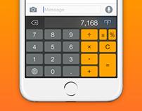 Keykulator: iOS 8 Keyboard