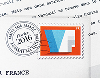 VF Mail page stamps
