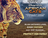 African Cats | Two-Spread Magazine Ad