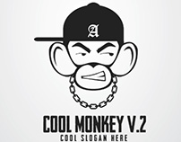Cool Monkey Logo V. 2
