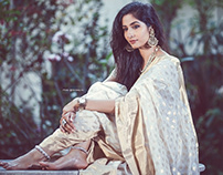 campaign shoot for Mithila sarees