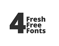 4 Fresh Free Fonts for your designs