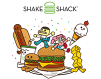 [Study Artworks] Shake shack Burger X Superchild
