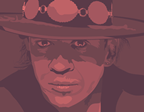 Stevie Ray Vaughan Illustrated Portrait