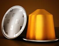 3D - Nespresso Capsules - Modeling & Rendering