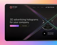 Advertising holograms — landing page design (M.T Ads)