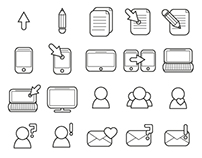 Set of web Icons