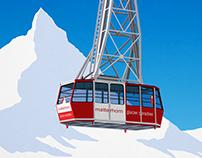 Zermatt Ski Resort Poster