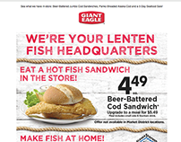 Giant Eagle Lent Fish Promo Email