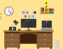 Desk Flat Design