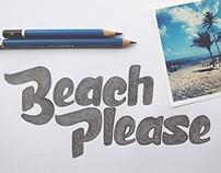 Beach Please handdrawn