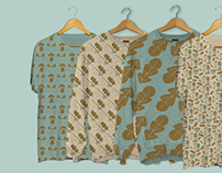 Camping surface pattern & icon design