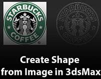 How to create shape from image in 3dsMax