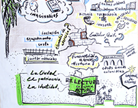Graphic recording for online talk @MarioHidrobo
