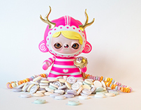 "The Queen of Candy Cove - 7"" Custom Kidrobot Foomi"