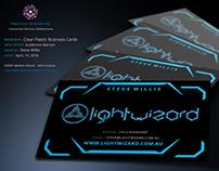 """Lightwizard"" Transparent Clear Business Cards"